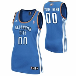 Oklahoma City Thunder adidas Women's Custom Player Replica Road Jersey - Blue<br><b><i>Choose a player or Personalize your jersey!</i></b> - Click to enlarge