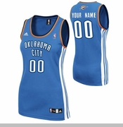 Oklahoma City Thunder adidas Women's Custom Player Replica Road Jersey - Blue<br><b><i>Choose a player or Personalize your jersey!</i></b>