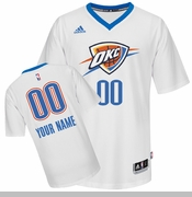 Oklahoma City Thunder adidas OKC Pride Custom Player Swingman Jersey - White <br><b><i>Choose a player or Personalize your jersey!</i></b>