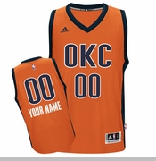 Oklahoma City Thunder adidas Custom Player Swingman Alternate Jersey - Sunset <br><b><i>Choose a player or Personalize your jersey!</i></b>