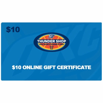 Oklahoma City Thunder $10 Online Gift Certificate - Click to enlarge