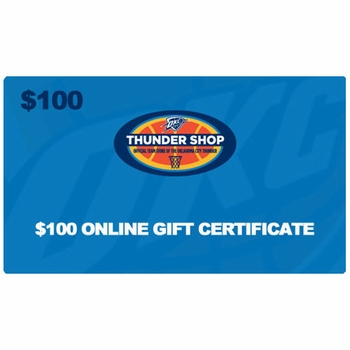Oklahoma City Thunder $100 Online Gift Certificate - Click to enlarge