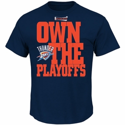 Oklahoma City Thunder 2014 We Own The Playoffs Tee - Navy - Click to enlarge