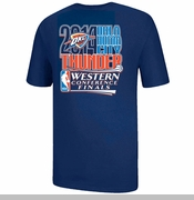 Oklahoma City Thunder 2014 Western Conference Finals Logo Tee - Navy