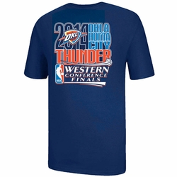 Oklahoma City Thunder 2014 Western Conference Finals Logo Tee - Navy - Click to enlarge