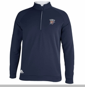 Oklahoma City Thunder 3 Stripe Piped 1/4 Zip - Navy