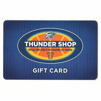 Oklahoma City Thunder $50 Arena Gift Card - Click to enlarge