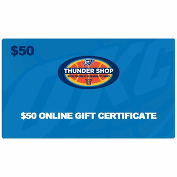 Oklahoma City Thunder $50 Online Gift Certificate - Click to enlarge