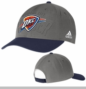 Oklahoma City Thunder adiads Tonal Structured Adjustable Cap - Grey