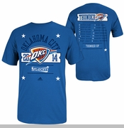 Oklahoma City Thunder Adidas '14 Court Roster Playoff Tee - Blue