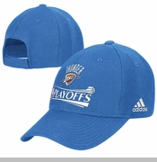 Oklahoma City Thunder Adidas 2014 NBA Playoffs Basic Cap-Blue