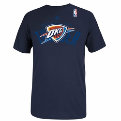 Oklahoma City Thunder adidas 2014 Draft Potential Tee - Navy - Click to enlarge