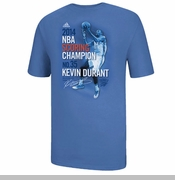 Oklahoma City Thunder Adidas 2014 Kevin Durant NBA Scoring Title Tee - Blue - Will Ship April 25th
