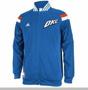 Oklahoma City Thunder adidas 2014 On-Court Jacket - Blue