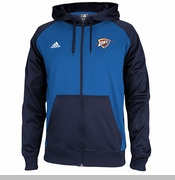 Oklahoma City Thunder adidas 2014 Pregame Full Zip Jacket - Blue