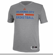 Oklahoma City Thunder adidas 2014 Pregame Short Sleeve Shooter Tee - Grey