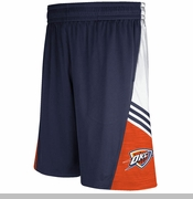 Oklahoma City Thunder adidas 2014 Pregame Shorts - Navy