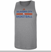 Oklahoma City Thunder adidas 2014 Pregame Tank Top - Grey