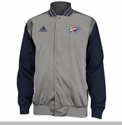 Oklahoma City Thunder adidas 2014 Second Half Jacket - Grey
