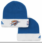 Oklahoma City Thunder adidas 2015-2016 Team Cuffed Knit - Blue