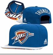Oklahoma City Thunder adidas 2015 NBA Draft Snapback Cap - Blue