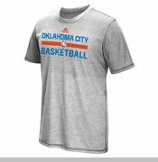 Oklahoma City Thunder adidas 2015 OKC Short Sleeve Tee - Grey