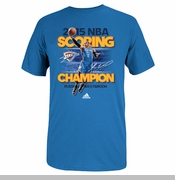 Oklahoma City Thunder adidas 2015 Russell Westbrook Scoring Title Tee - Blue