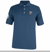 Oklahoma City Thunder adidas 3 Stripe Polo - Navy