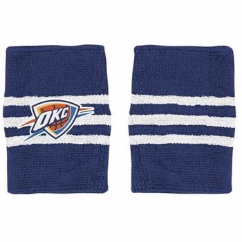 Oklahoma City Thunder adidas 3-Stripe Wristband - Navy - Click to enlarge