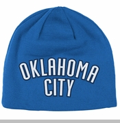 Oklahoma City Thunder adidas Authentic Draft Reversible Beanie - Blue
