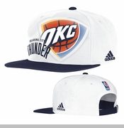 Oklahoma City Thunder adidas Authentic On-Court Snapback - White