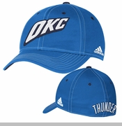 Oklahoma City Thunder adidas Authentic Team Flex Cap - Blue