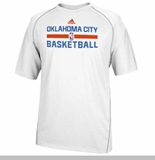 Oklahoma City Thunder adidas Bench CLIMALITE Short Sleeve Tee - White