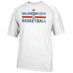 Oklahoma City Thunder adidas Bench CLIMALITE Short Sleeve Tee - White - Click to enlarge