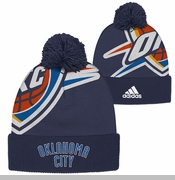 Oklahoma City Thunder adidas Big Logo OKC Knit - Navy