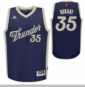 Oklahoma City Thunder adidas Christmas Day Kevin Durant #35 Swingman Jersey - Navy