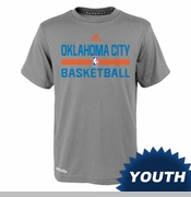 Oklahoma City Thunder adidas Climalite Youth Practice Tee - Grey