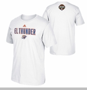 Oklahoma City Thunder adidas Ene-be-a Noches Latinas 'El Thunder' Tee - White
