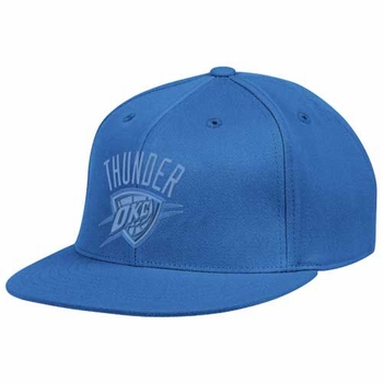 Oklahoma City Thunder adidas Flat Brim Tonal Flex Cap - Blue - Click to enlarge