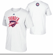 Oklahoma City Thunder adidas Hoops For Troops Tee - White