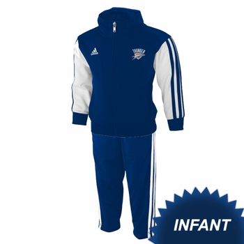 Oklahoma City Thunder adidas Infant Full Zip Jacket and Pants Set - Blue - Click to enlarge