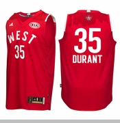 Oklahoma City Thunder adidas Kevin Durant 2016 NBA West All-Star Swingman Jersey - Red