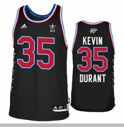 Oklahoma City Thunder adidas Kevin Durant #35 2015 All-Star Swingman Jersey - Black