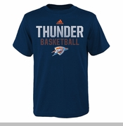 Oklahoma City Thunder adidas Kids Beta Rays Tee - Blue
