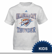 Oklahoma City Thunder adidas Kids' Home Turn Tee - White