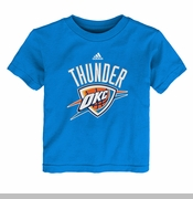 Oklahoma City Thunder adidas Kids Mesh Primary Logo Tee - Blue