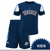Oklahoma City Thunder adidas Kids Prestige Shirt and Short Set - Navy