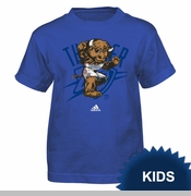 Oklahoma City Thunder adidas Kids Tonal Rumble Mascot Tee - Blue