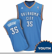 Oklahoma City Thunder adidas Kids Wordmark Revolution Kevin Durant Replica Jersey - Blue