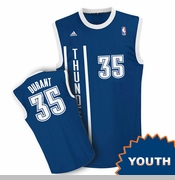 Oklahoma City Thunder adidas Kids Wordmark Revolution Kevin Durant Replica Jersey - Navy